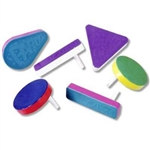 Racket Raise 'N Noisemakers (multicolor) are a classic colorful, plastic hand held noisemaker. Simple hold onto the handle, and twirl it around to make some noise. Perfect for New Year's Eve or anytime you want to show some enthusiasm and spirit.