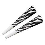 Zebra Print Horns (sold 100 per box)