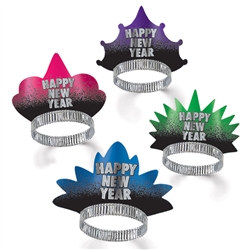 Assorted New Year Resolution Tiaras (Sold 50 Per Box)