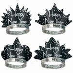 Sparkling Black and Silver New Year Tiaras