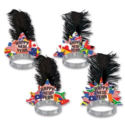 International New Year Tiaras (Sold 50 Per Box)