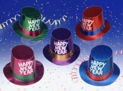 Assorted Foil New Year Hi-Hats
