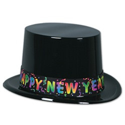 Black Celebration New Year Topper Hat