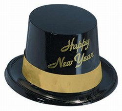 Gold Legacy New Year Plastic Topper Hat
