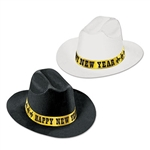 Western Nights New Year Cowboy Hats (Assorted Colors)
