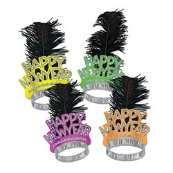 Neon Swing New Year Tiaras (50/pkg)