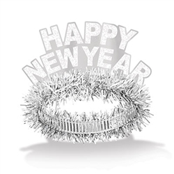 White Happy New Year Regal Tiara