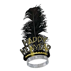 Black and Gold Swing New Year Tiaras