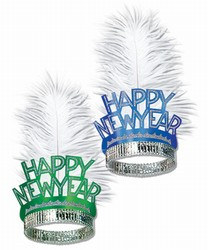 Assorted New Year Swing Tiaras (50/pkg)