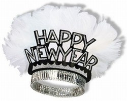 Black and Silver New Year Bird of Paradise Tiara (sold 50 per box)