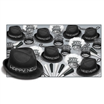 Celebrate the New Year in style, our Chairman Black Assortment for 50 has hats, tiara, horns and beads for 50 people!