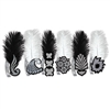 Black and White Roaring 20's Tiaras