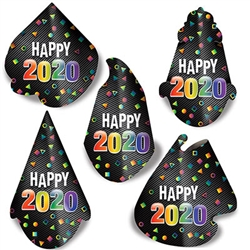 Top off your New Year's celebration with this fun and inexpensive 2020 Midnight Hat Assortment. 
