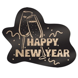 Glittered Happy New Year Sign