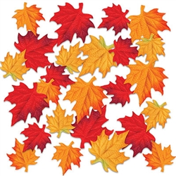 These amazing Deluxe Fabric Autumn Leaves will add color and interest to your tables, displays, windowsills and more.  Each package includes 24  x 4 3/4 in leaves and 24  x 3 1/2 inch leaves.  48 leaves per pack!  Reusable with care.