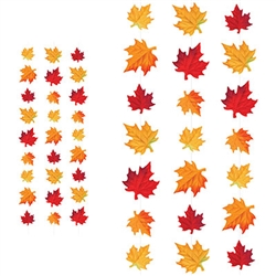 Add the colors of fall to your party pallet with these beautiful Deluxe Fabric Autumn Leaves Stringers.  Each package includes 3 sets of stringers.  Each stringer is a full 10 feet long.  Easy to hang and reusable with care.