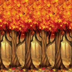 Fall Trees Backdrop