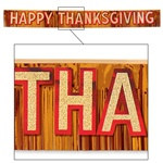 Metallic Happy Thanksgiving Banner