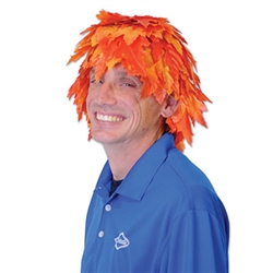Create some laughs this fall when you sport this colorful Fall Leaf Wig. This fashionable and comical hat is a adult one size fits most and is not intended for children. Comes one leaf wig per package.