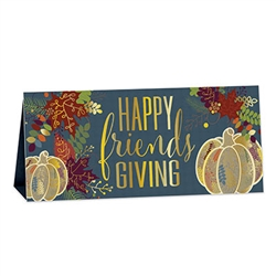 "Add classic style to a new celebration with this 3-D Foil Happy Friendsgiving Centerpiece. A colorful and fun accent to your Friendsgiving table, its completely assembled and printed two sides. Measures 6.25"" X 13.5"" Reusable with care."