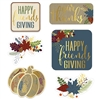 Add a charmingly nostalgic feel to your Friendsgiving party with these Foil Friendsgiving Cutouts.  Each package includes six cutouts, each printed on both sides.  They measure from 6 1/4 inches to 10 inches in size.  Reusable with care.
