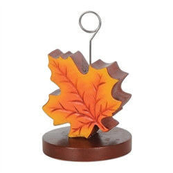 Fall Leaf Photo/Balloon Holder