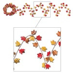 Metallic Flex Autumn Leaf Garland