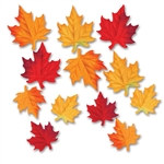 Deluxe Fabric Autumn Leaves (12/Pkg)