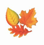 Printed Leaves, 12 inches (9/Pkg)