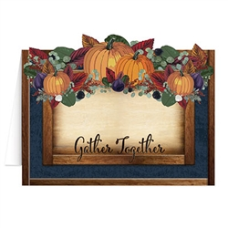 Your guests will know you've gone the extra mile when they see these Fall Thanksgiving Table Cards on your dinner table setting.  Each package includes eight 31/4 x 4/1/4 inch cards.