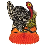 "Go old school this Thanksgiving with this classic Vintage Fall Harvest Turkey Centerpiece.  Originally designed in 1947, this centerpiece stands 8"" tall and open full round."