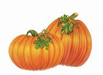 Pumpkin Cutouts, 16 in (4/Pkg)