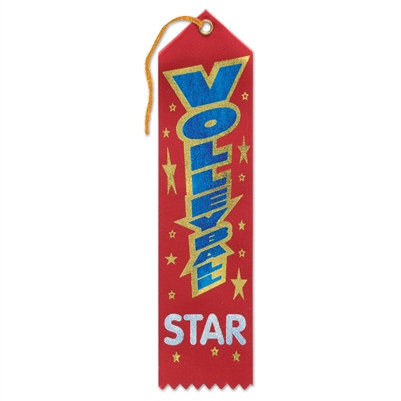 Volleyball Star Ribbon