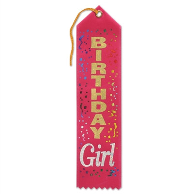 Red Birthday Girl Ribbon