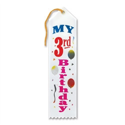My 3rd Birthday Ribbon