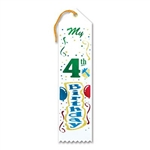 My 4th Birthday Ribbon