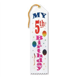 My 5th Birthday Ribbon