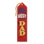 Red World's Best Dad Ribbon