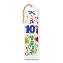 My 10th Birthday Ribbon