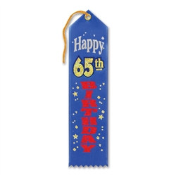 Happy 65th Birthday Ribbon