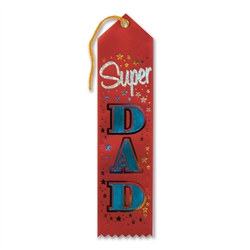 Red Super Dad Ribbon