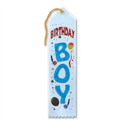 Light Blue Birthday Boy Ribbon