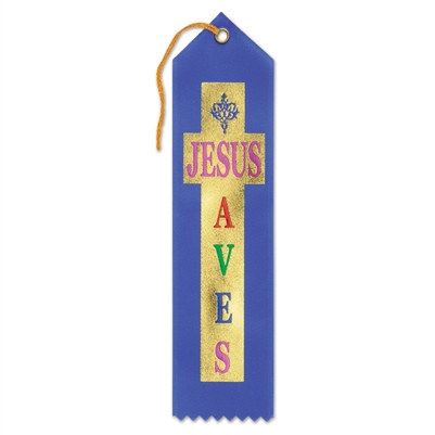 Jesus Saves Ribbon