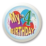 My 4th Birthday Blinking Button