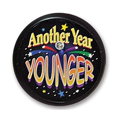 Another Year Younger Blinking Button