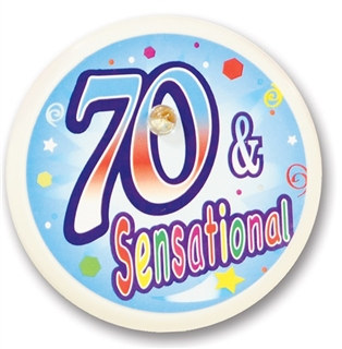 70 and Sensational Blinking Button