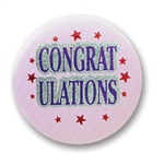 Congratulations Satin Button