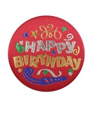 Happy Birthday Satin Button