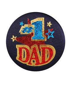 #1 Dad Satin Button