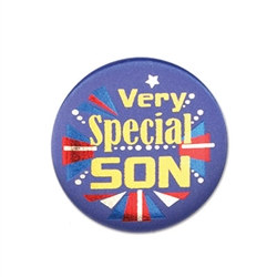 Very Special Son Satin Button